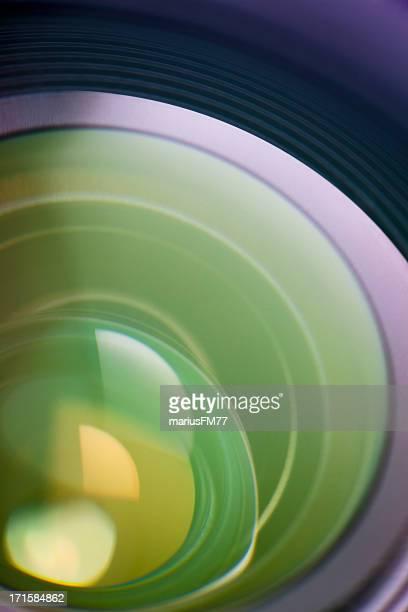 抽象的なカメラレンズ
