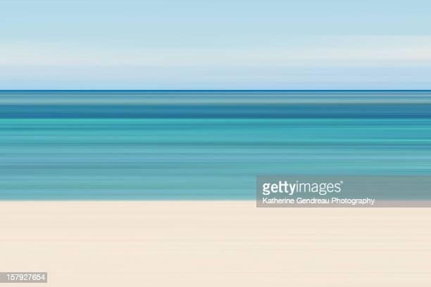 Abstract Caribbean beach