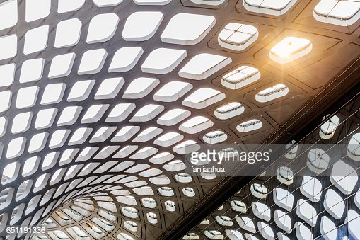 Modern Architecture Pattern abstract ceiling of modern architecture stock photo | getty images