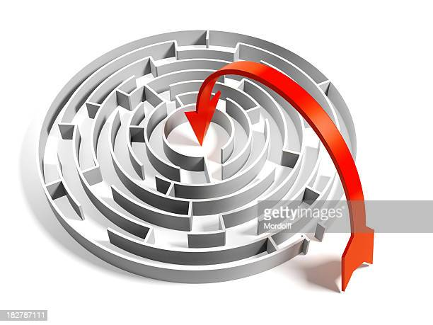 Abstract Circular Maze with easy way solution