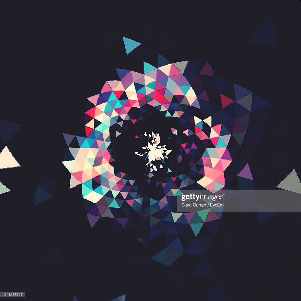 Abstract Colorful Design On Wall