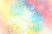 Abstract Colorful watercolor painting  background, Colorful brush background.