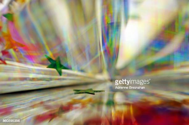 Abstract Colors and Light Effects of Holographic Paper
