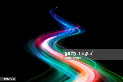abstract coloured light energy motion trails : Stock Photo