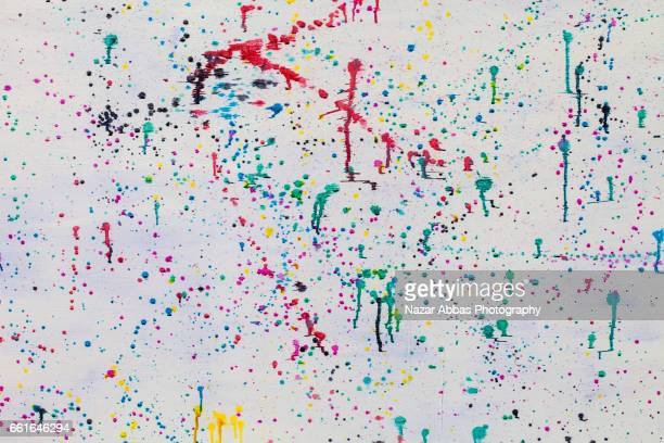 Abstract Colours On White Background.