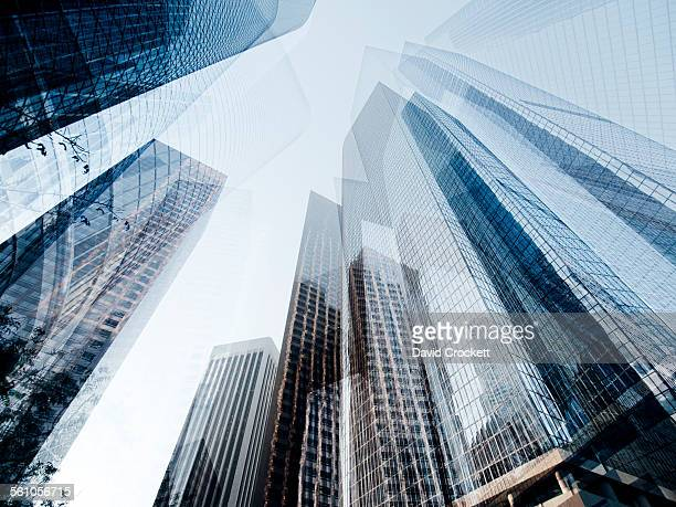 Abstract composite of office buildings