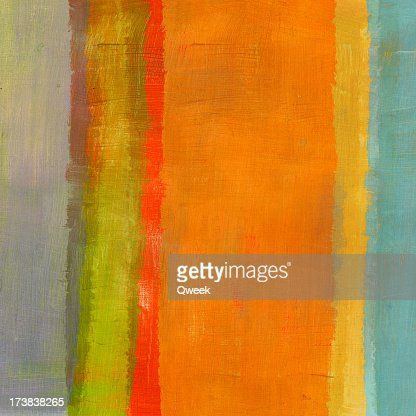 Abstract Composition with Orange Stripe