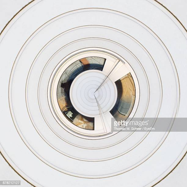 Abstract Concentric White Pattern