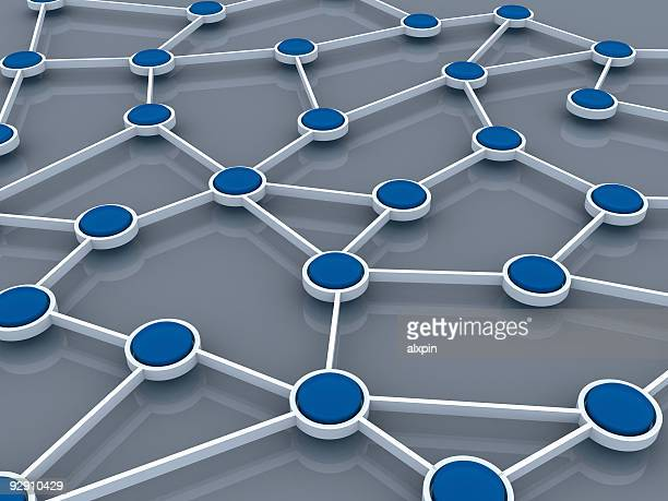 Abstract concept of network connection connected by dots