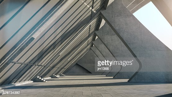 Abstract concrete geometric structure background. 3D rendering : Photo