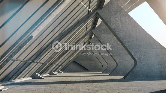 Abstract concrete geometric structure background. 3D rendering : Foto de stock