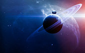 Abstract scientific background - planets, nebula and stars. Elements of this image furnished by NASA nasa.gov