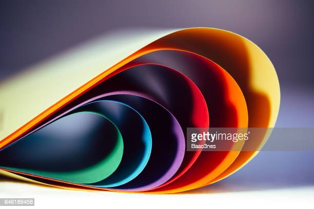 Abstract - Curved colored paper.