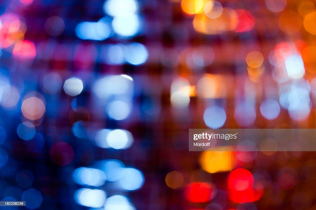 Abstract defocused lights from disko sphere