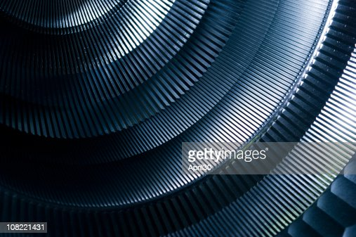 Abstract Detail of Round Metal Machinery : Bildbanksbilder