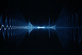 Abstract digital sound sonic wave background - oscilloscope