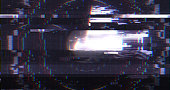 Abstract Digital User Interface HUD with Pixel Noise Glitch Error Video Damage