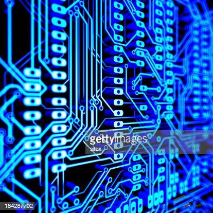Abstrato fundo da placa de circuito de dupla camada