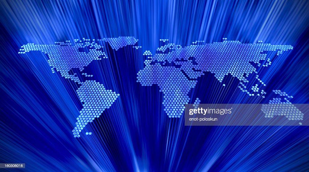 Astratto mondo mappa : Foto stock