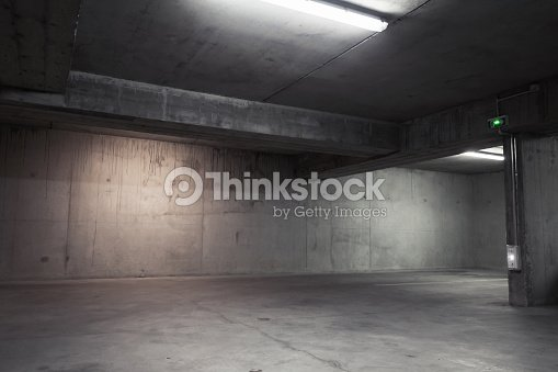 Abstract empty garage interior, background : Stock Photo