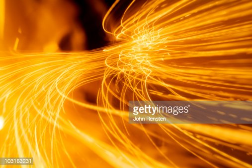 Abstract fire and light trails and effects