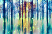 Abstract forest.