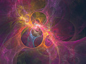 abstract fractal art background