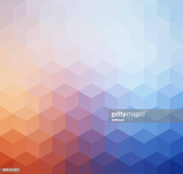 Abstract geometric pastel colored retro background