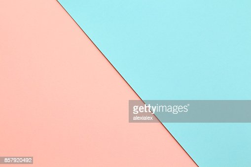 Abstract geometricpaper background in soft pastel pink and blue colors : Stock Photo