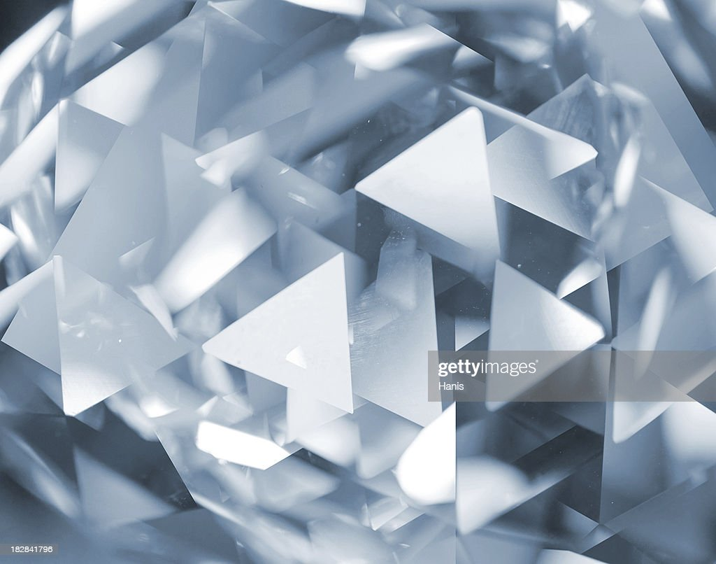 Abstract glass triangles