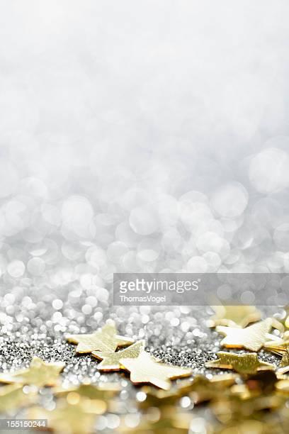 Abstrakt Glitter-Hintergrund mit Sternen und Christmas Party-Sterne