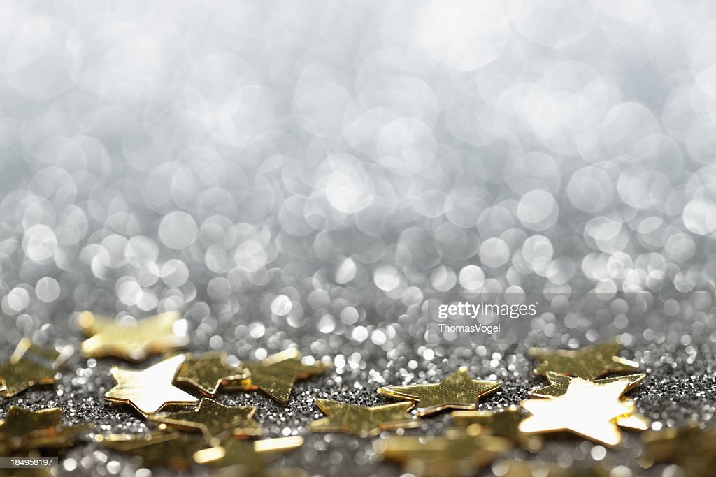 Abstract Glitter Background With Stars Christmas Party