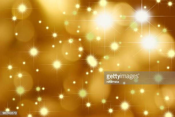 Abstract gold background of holiday lights