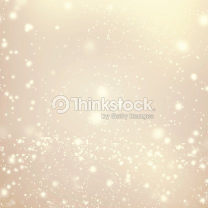 Abstract Golden Background With White Glitter Defocused Bokeh Stock