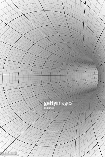 Abstract grey and white tunnel background