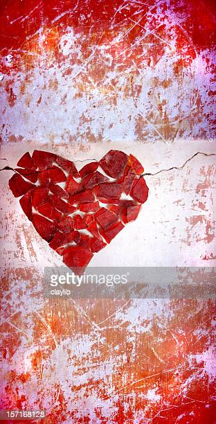 abstract grunge heart, 'Hard Love'