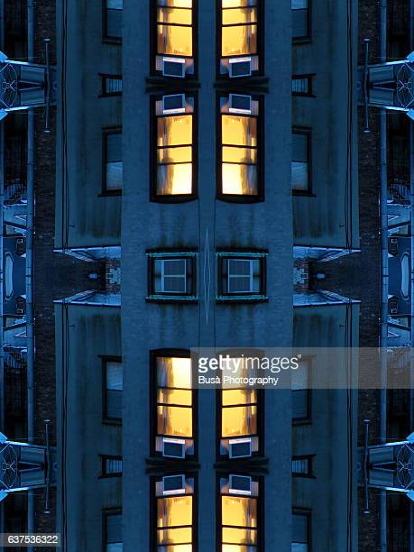 Abstract image: kaleidoscopic image of view from a window in New York City.