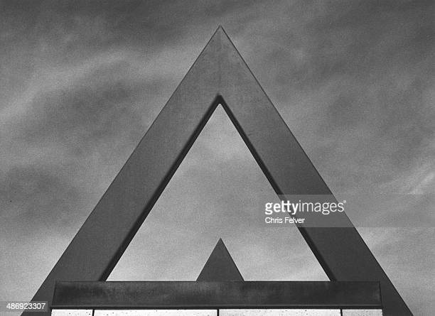 Abstract image of an architectural detail showing triangles against the sky Arizona 2006 From The Ordered World series