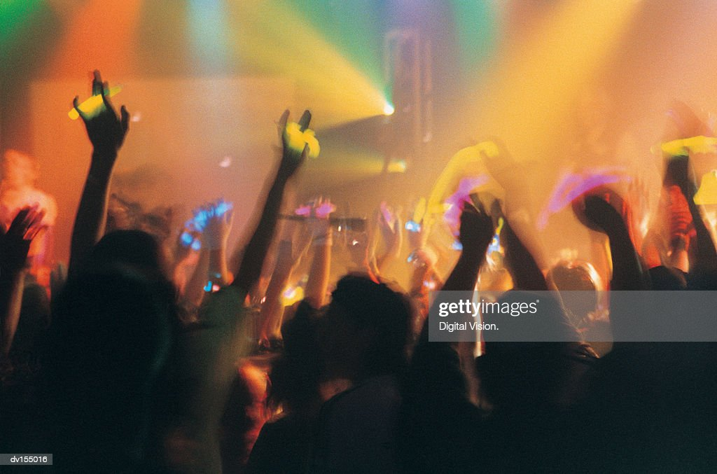 Abstract image of enthusiastic crowd : Stock Photo