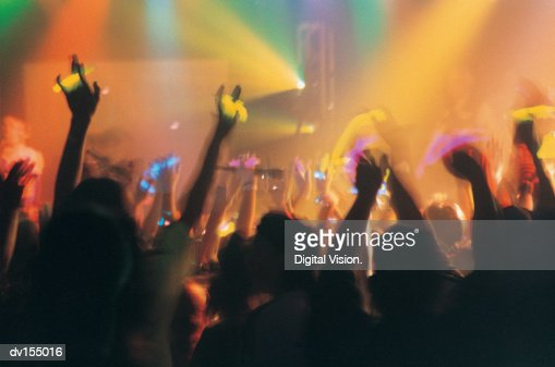 Abstract image of enthusiastic crowd : Foto de stock