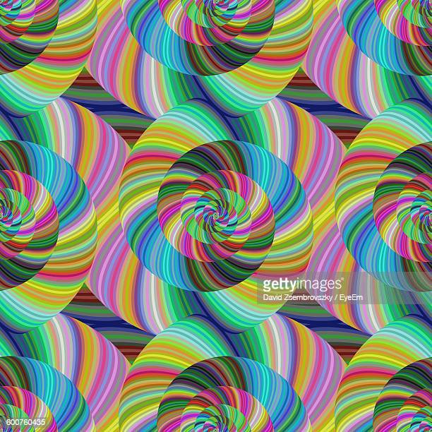 Abstract Image Of Multi Colored Swirl Pattern