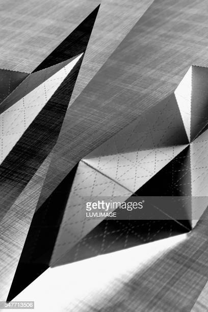 Abstract image with sharp forms.
