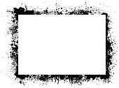 Abstract ink border with plenty of white copy space
