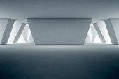 3d rendering of room with lighting