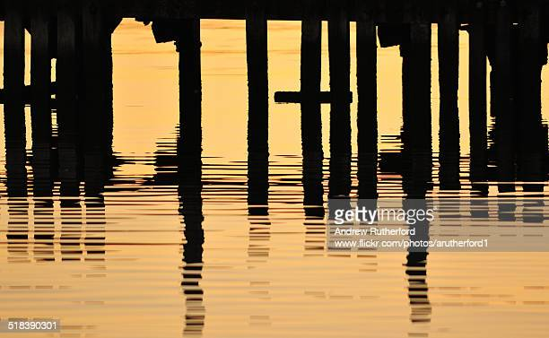 Abstract Jetty Woodwork