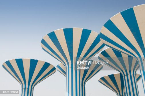 Abstract Kuwait Water Towers Stock Photo | Getty Images All Sizes Water Towers Kuwait Photos