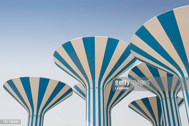 Abstract Kuwait water towers