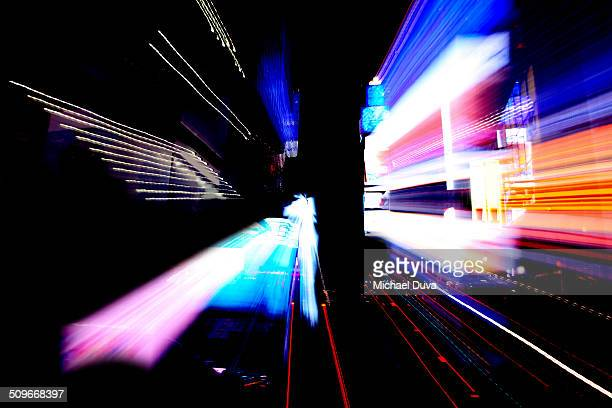 Abstract light painting resembling digital world