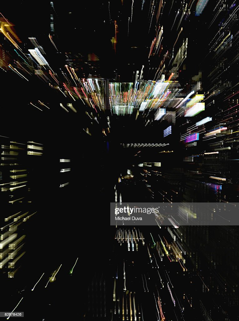 abstract light painting resembling digital world : Stock Photo