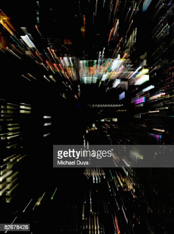 abstract light painting resembling digital world : Foto de stock